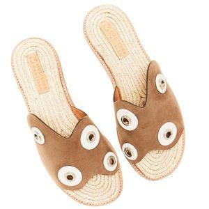 new Mercedes Castillo ✪ Suede Sandals ✪ Hardware